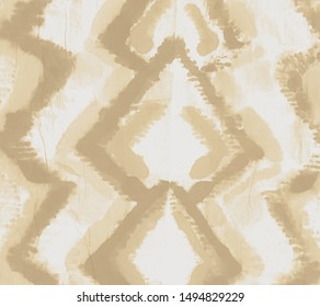 Shibori Print. Vanilla Custard Decoration. Light Brown Shibori Stripes. Shibori Print. Sand Craft Folk. Tie Dye Backdrop. Ikat Art Texture. Cream Tribal Boho Pattern. Tribal Printed.