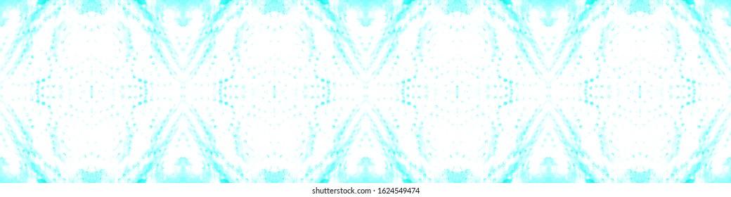 Shibori Texture. Aquarelle Art. Tie And Dye Pattern. Blue,Cyan,White Ethnic Shibori Backdrop. Vintage Abstract Adornment. Abstract Ethnic Artwork. Blot Shibori Texture.