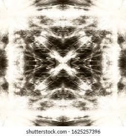 Shibori Texture. Aquarelle Art. Tie And Dye Pattern. Black,Ink,White Abstract Continuous Painting. Endless Shibori Wallpaper. Bohemian Abstract Style. Folk Shibori Texture.