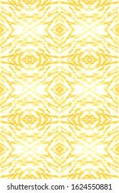 Shibori Texture. Liquid Inks. Color Paint Background. Hippie Abstract Ornament. Craft Ethnic Adornment. Shibori Organic Retro Style. White,Gold Wet Shibori Texture.