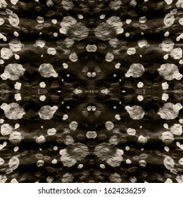 Shibori Texture. Watercolor Texture. Paint Dye. Infinite Hippie Canvas. Vintage Abstract Ornament. Shibori Boundless Backdrop. Black,Ink,White Blot Shibori Texture.