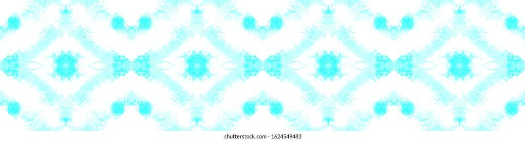 Shibori Texture. Watercolor Shade. Spattered Paint. Artistic Bohemian Ornament. Infinite Abstract Canvas. Shibori Boundless Backdrop. Blue,Cyan,White Spot Shibori Texture.