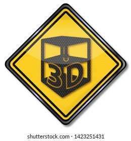 Shield with a 3D printer and third dimension