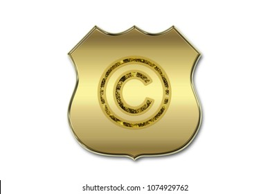 Shield with copyright and copyleft symbols.