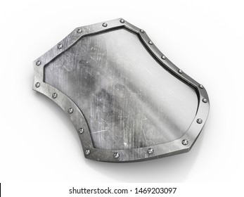 Shield on a white background. 3d illustration.