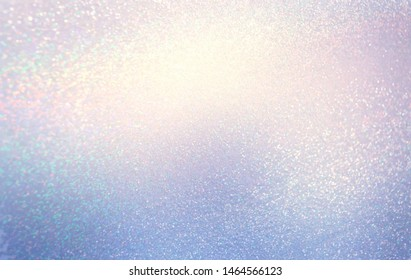 Shimmer subtle textured background. Shiny lilac blue template. Bright glitter  pattern.