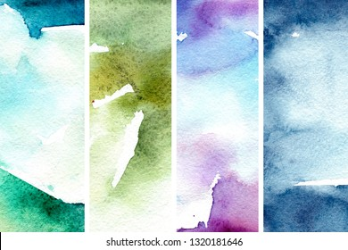 Shimmer watercolor background in abstract style. Natural hand drawn banner. Abstract dark background. Abstract art pattern. Shimmer texture set. Watercolor effect. Ink marble texture.