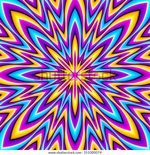 Shine Colorful Star Optical Expansion Illusion Stock