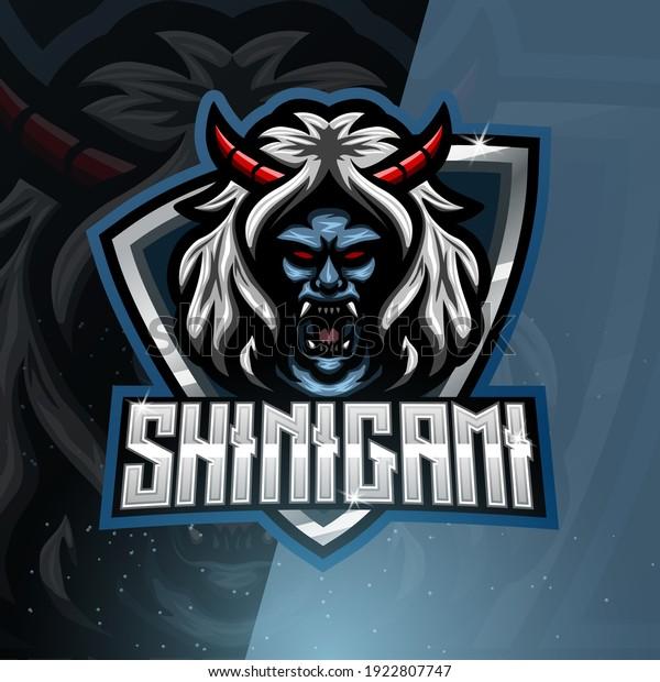 Shinigami mascot esport logo design