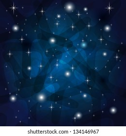 Shining Abstract Dark Blue Background with stars