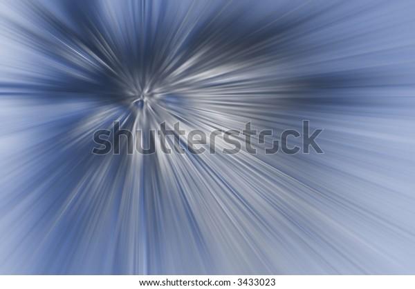 Shining Burst of Blue - High Resolution Illustration