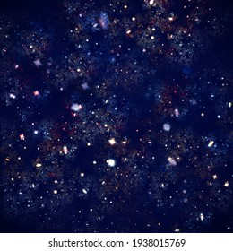 Shining, eye-catching background. Associations to the theme of space