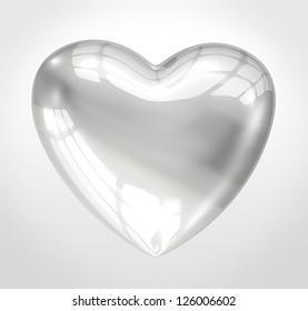 Shiny glass heart