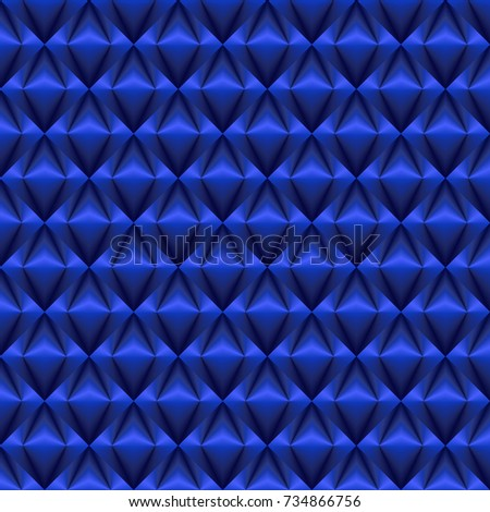Shiny And Glossy Argyle Pattern Blue Wallpaper Background