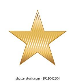 Shiny gold star. Reward. Illustration