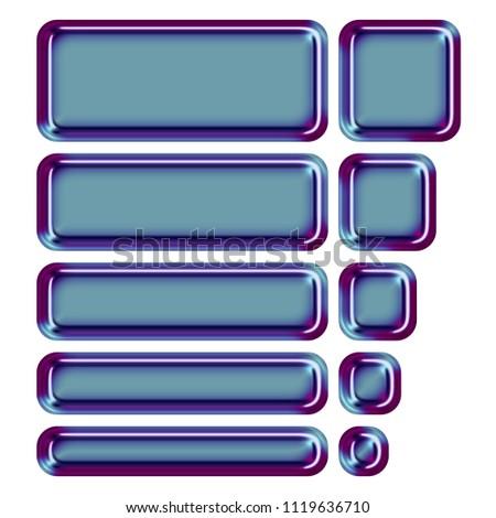 shiny metallic blue purple color set stock illustration 1119636710