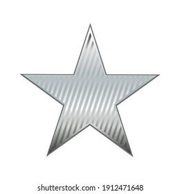 Shiny platinum star. Reward. Illustration
