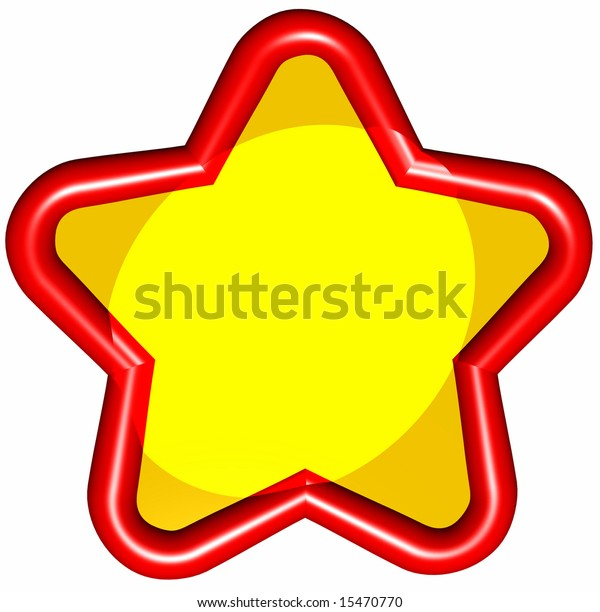 A shiny red star and spotlight, ready for your text or photo.