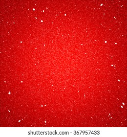 Shiny Red Textured Background with Sequins. Holiday Poster with Glitter. Party Banner Backdrop.