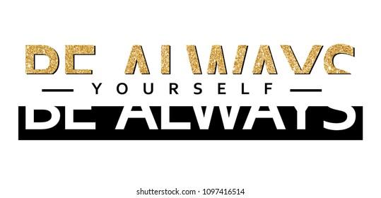 shiny slogan graphic