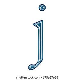 Sparkling Teal Plastic Letter J Lowercase Stock Illustration