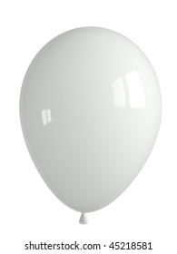 shiny white balloon