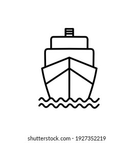 a ship on the sea icon logo template
