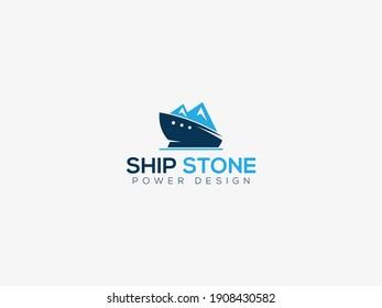 ship stone logo design, ship stone logo design