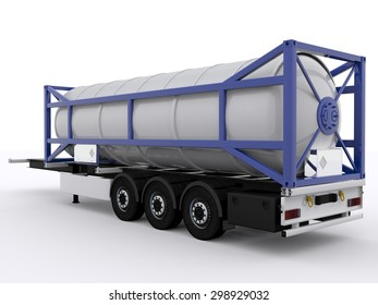 Shipping Container  on Trailer