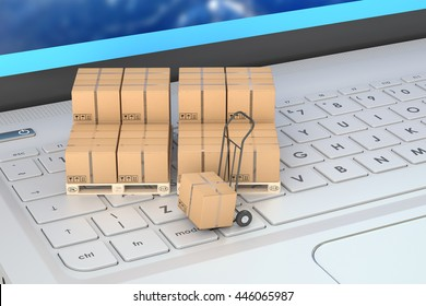Shipping and logistics concept, 3D rendering
