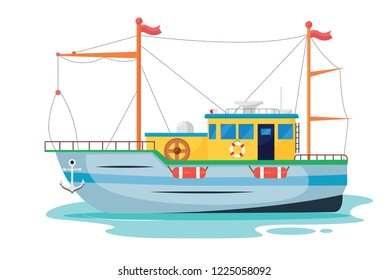 Ships, Boats, With sea