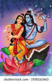Shiv Parvati  Shivaratri  illustration Wedding Of Shiv Parvati for Shivratri, Shiv Shiva Bholenath Mahadev, Mahashivratri, shivratri Shiv ratri, Happy Maha Shivratri Greeting Mahashivratri 2021