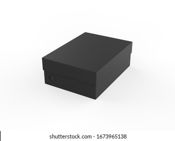 Shoes Box Mockup template isolated on white background, 3d illustration.