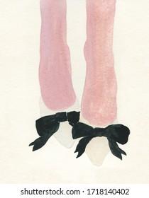 shoes. elegant heels. fashion illustration. watercolor painting