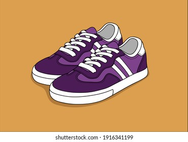 shoes, sports shoes illustration, fashion, style, casual, drawing