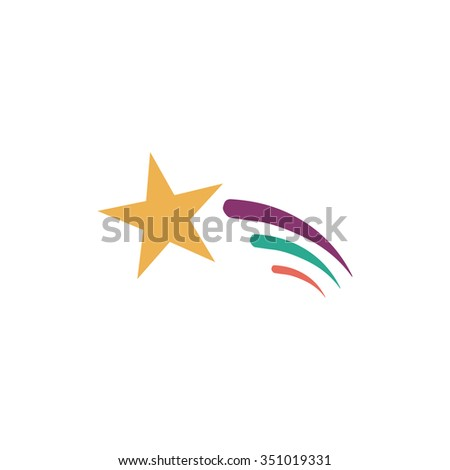 Royalty Free Stock Illustration Of Shooting Star Colorful Pictogram