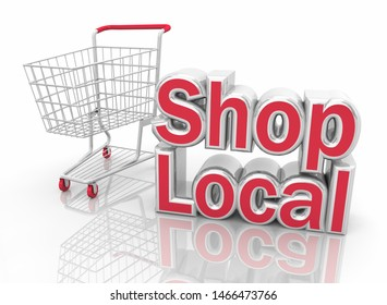 Shop Local Home Town Small Business Stores 3d Illustration