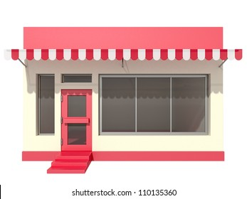 shop on a white background
