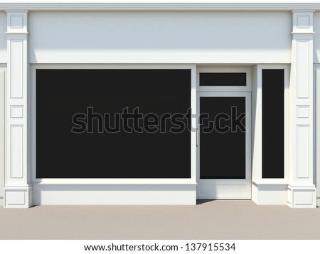 royalty free stock illustration of shopfront large windows whiteshopfront with large windows white store facade