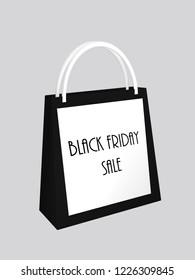 Shopping bag for black friday. 3d rendering