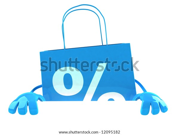Shopping bag with a blank sign