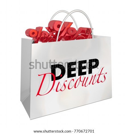 5074b737044 Royalty Free Stock Illustration of Shopping Bag Deep Discounts Sale ...