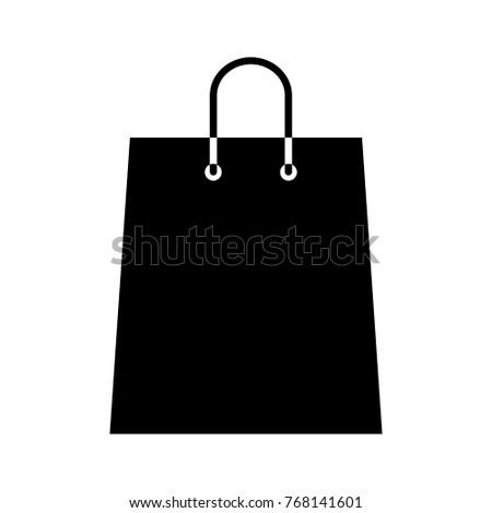 Shopping Bag Icon Flat Cartoon Illustration Stockillustration