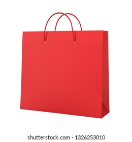 Shopping Bag Isolated. 3D rendering