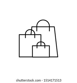 shopping, bags line icon. Elements of black friday and sales icon. Premium quality graphic design icon. Can be used for web, logo, mobile app, UI, UX