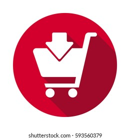 Shopping Cart Add to Cart flat icon.