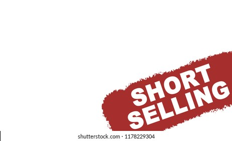 Short selling real estate sign isolated on white