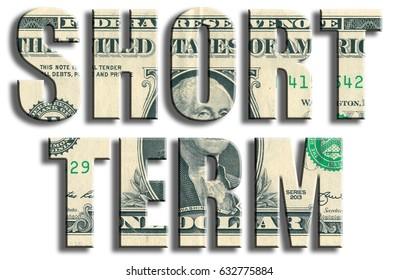 Short Term. US Dollar texture.