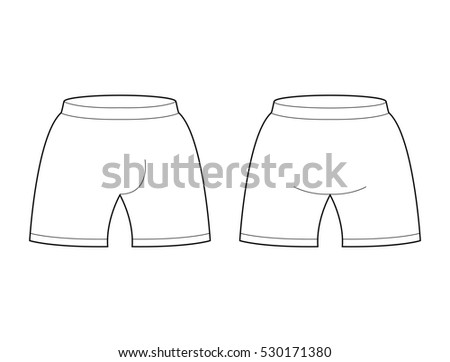 Shorts Template For Design Sample Sports Football Clothing Briefs Blank Curve