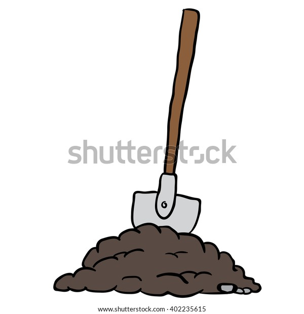 Shovel Dirt Cartoon Stock Illustration 402235615